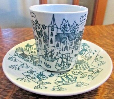 Nymolle Art Fatience Hoyrup, Denmark Limited Edition, Cup And Saucer