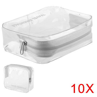 10x Clear AIRPORT SECURITY LIQUID BAGS Plastic Seal HOLIDAY Travel HAND LUGGAGE
