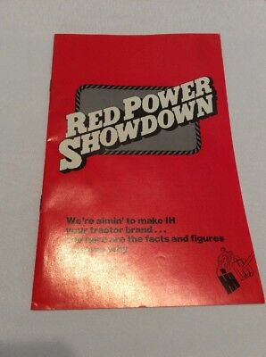 International Harvester Red Power Showdown Booklet 15 Pages