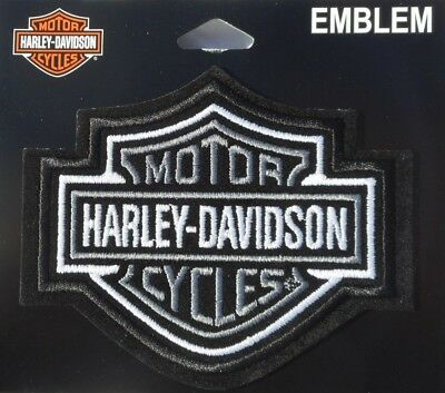 Harley Davidson Classic Silver Logo Sew On Patch Xl 2499