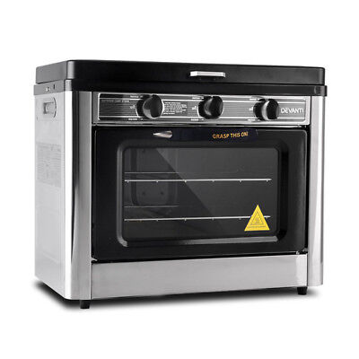 New Portable Gas Oven and Stove Silver and Black + FREE SHIPPING