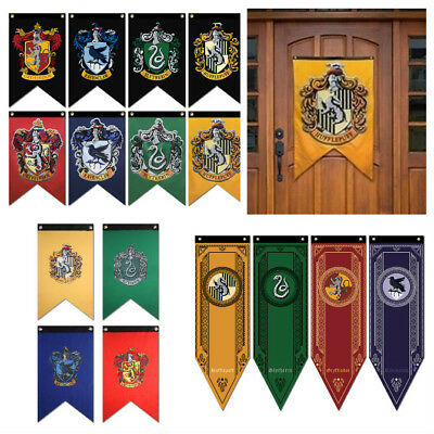Harry Potter Flag Banner Wall Hanging Drape Hogwarts Gryffindor Hufflepuff HOT