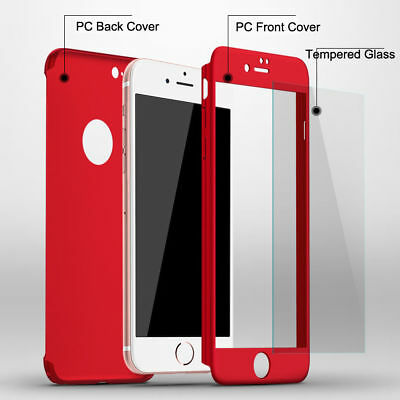 For iPhone 7 6 6s Plus Luxury 360 Case Full Body Coverage Matte Cover Phone Case