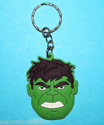 The Hulk Keyring School Bag Tag PVC Green Giant Man Avengers Justice League NEW