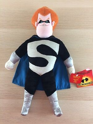 "Authentic Disney Store Pixar The Incredibles 17""Talking Syndrome Plush Soft Toy"