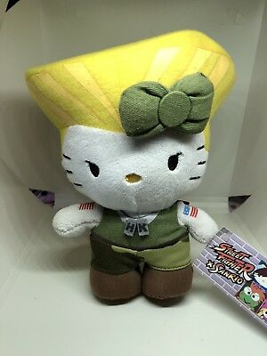 "Hello Kitty X Street Fighter Guile 6"" Mini Plush"