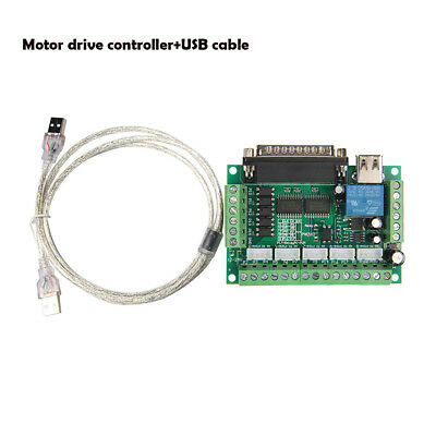 5 CNC Axis Breakout Board optical coupler MACH3 Stepper Motor Driver+USB cable
