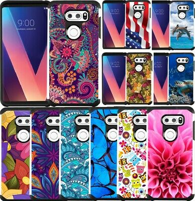 Slim Hybrid Armor Case Dual Layer Phone Cover for LG V30 / V30+ / LG V30S Thinq