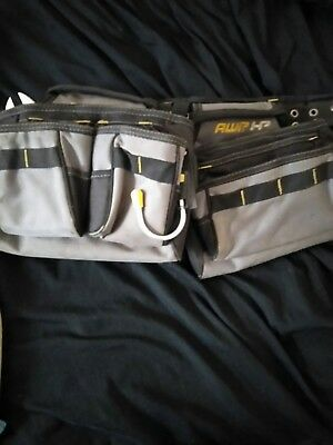 eaab4f933b8d AWP HP General Construction Tool Rig Belt Adjustable Ballistic Nylon Padded  Gray