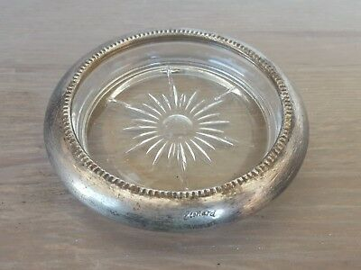 Vintage Leonard  SilverPlated  size 12cm  signed platter? ashtray?