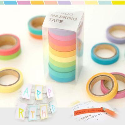 10x 0.7cm Washi Paper Sticky Adhesive Sticker Tape Decorative AкY Crafts 2016 Aк