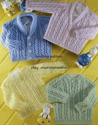 (500) Knitting Pattern for Baby Boy Girl Cable and Lace Sweater & Cardigans