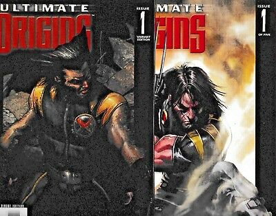 ULTIMATE ORIGINS #1 & #1 Variant! (VF/NM) WOLVERINE! NICK FURY! 2008 Marvel