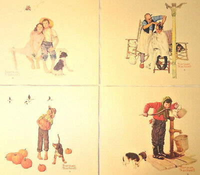 Norman Rockwell Embossed Prints Vintage 8 X 10 Going on Sixteen Four Seasons