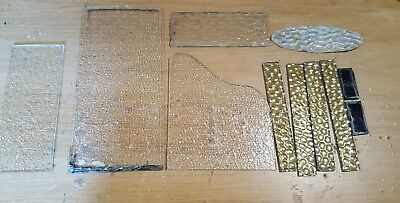 11 x small piece of old odd glass spares/crafts