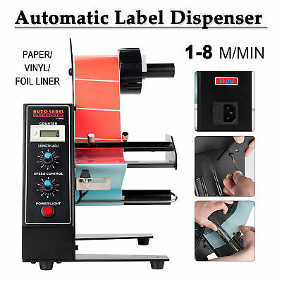 Automatic Label Dispenser Machine Stripper Separating Speed Adjustable