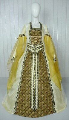 Medieval Renaissance Tudor Wedding Handfasting Larp Gown Dress Costume (26F)