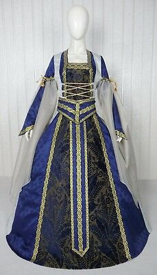 Medieval Renaissance Tudor Wedding Handfasting Larp Gown Dress Costume (26H)