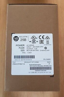 Rockwell Automation Power Flex 525 0.4kW 3 phase VFD 25B-D1P4N114