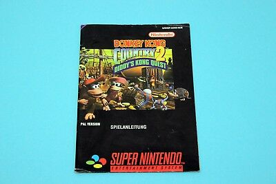 Super Nintendo SNES - DONKEY KONG COUNTRY 2 - Spielanleitung, Manual, Booklet