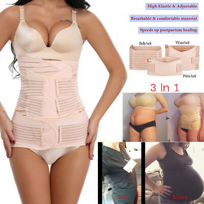 3 IN 1 Postpartum Belt Wrap Shaper Recovery Shapewear Support Girdle After Birth