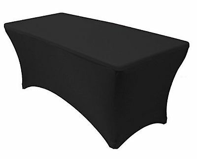 Tina 4 ft. Rectangular Banquet Table Cover Spandex Fitted Stretch Tablecloth ...