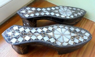 Antique Hammam Kabkabs socques.Bathing Shoes Sandals Ottoman turc,syrian maghreb
