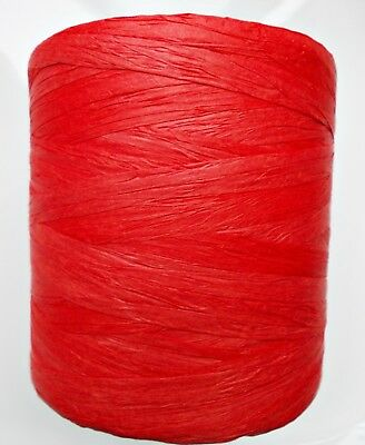 """ECO Ribbon Tape in Valentine Red, Ecologic Biodegradable 10mm (3/8"""") Gift wrap"""