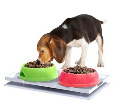 Ant Proof Plate for Dog & Cat Food Bowl - Rectangle Ant Proof Plate