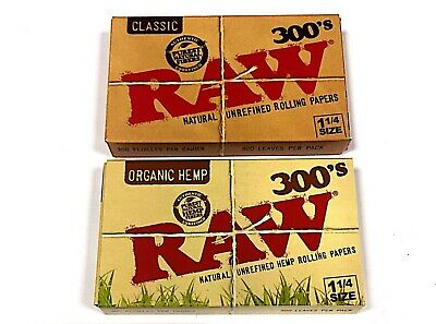 Introducing RAW Classic/Organic 300's Leaves Pack 1-1/4 Size Multibuy by eTrendz