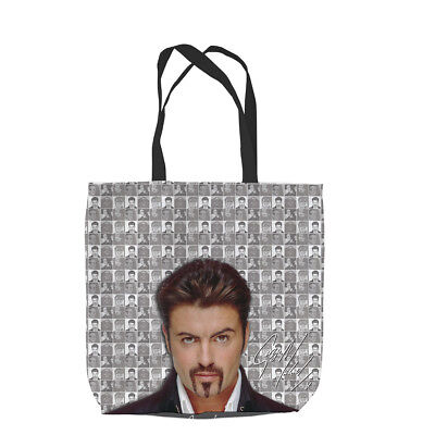 Grey Checked George Michael Grey Montage Design Shopping Bag Great Gift Idea