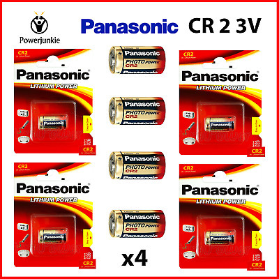 4x Panasonic CR2 850mAh 3V Lithium LiMNO2 Button Photo Battery DLCR2, EL1CR2