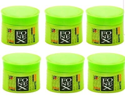 6 x Fonex Styling Wax Matte Look Matt Effect 100 ml Haarwax-wachs (100ml/4,83€ )