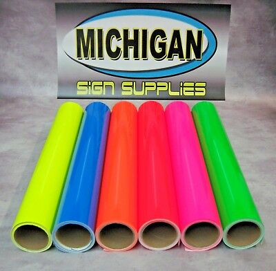 Cast Fluorescent Vinyl-Great for Decals, Race Cars & More!-6 Colors Available!!