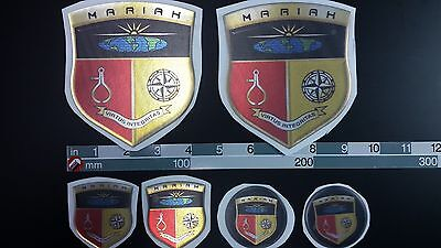 """mariah boat Emblem 4,1""""x4,7"""" gold Epoxy Stickers Resistant to mechanical shocks"""