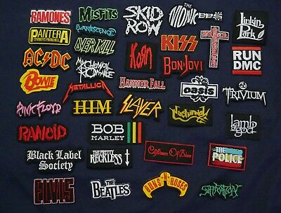 Lot of 35 Sew Iron On Patch Band Music Rock N Roll Heavy Metal Wholesale # X