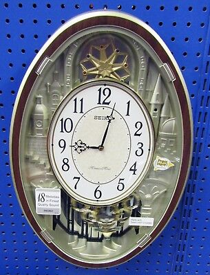 Seiko  Melody In Motion Clock - Qxm369Brh With 18 Hi-Fi Melodies