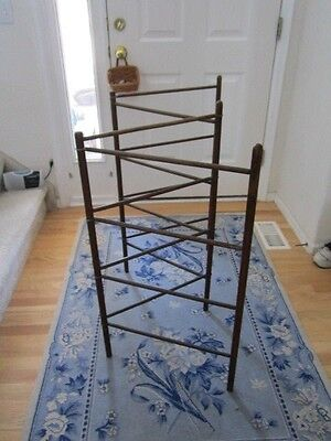 Antique/Vintage Tobacco Linen Herb Clothes Drying Folding Rack Primitive