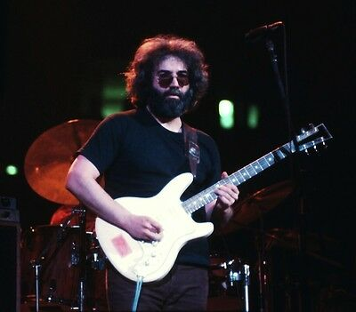 Jerry Garcia Playing The Guitar Photo 8X10 Unsigned