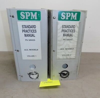 Pratt & Whitney SPM Standard Practices Manual Volumes 1 & 2 PN 585008 TURBO JET