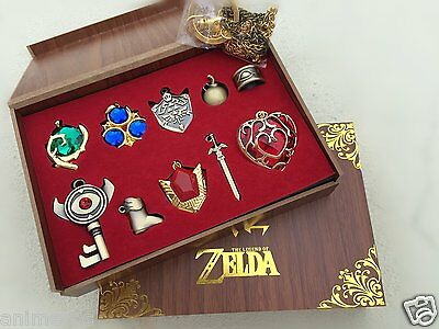 The Legend of Zelda Necklace keychain Pendant 10pcs Set Collection New in Box