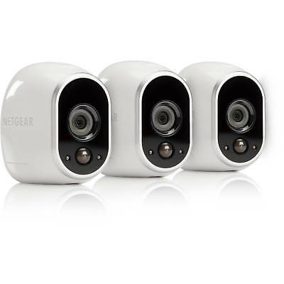 New NETGEAR Arlo Smart Home HD Security Camera System Indoor/Outdoor (3-Pack)