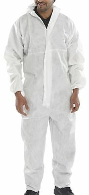 Disposable Coverall Overall Boilersuit Protective Lab Coat White Red Blue S-3Xl