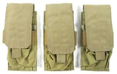 3x Eagle Allied Industries SFLCS Khaki Tan 1x2 Double 556 Mag Pouch COYOTE