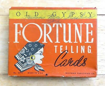 Original 1937 Whitman Old Gypsy Fortune Telling Cards #3013