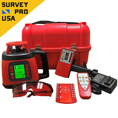 450m Rotary Laser Class 2 Dial-In Dual-Slope Self-Leveling Red Beam IP54