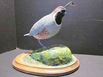 Old Wood Quail Carving Upland Bird Hunting Decoy