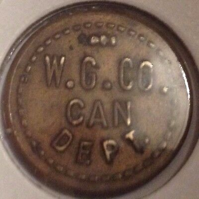 W .g. Company Can Department Good For One Cup Of Coffee Token