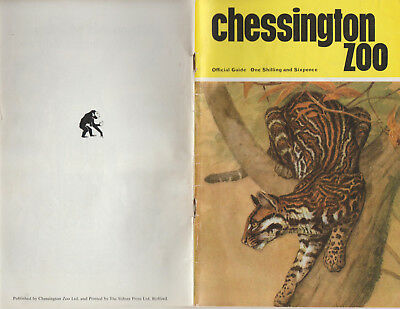 CHESSINGTON ZOO - VINTAGE UNDATED OFFICIAL GUIDE - COVER PRICE ONE SHILLING & 6d
