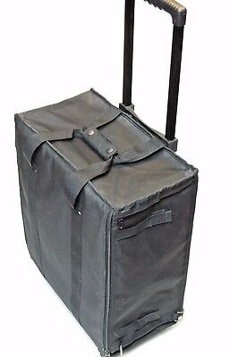 Large Jewelry Display Rolling Carrying Case W/ 17 Trays and liners